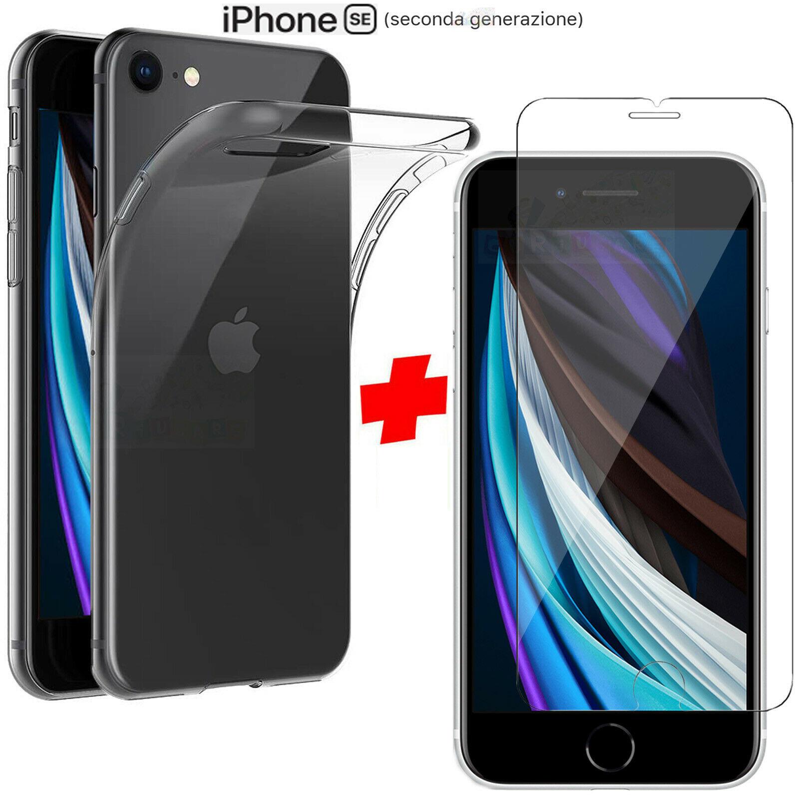 Cover per Apple iPhone SE 2020 Pellicola Vetro Temperato ...